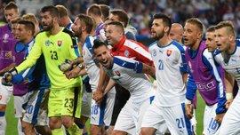 Словаччина показала шалену радість у роздягальні після побиття Росії