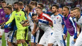 Словакия показала сумасшедшую радость в раздевалке после избиения России