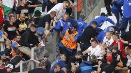 Фанаты Венгрии устроили массовую драку на трибунах перед матчем с Исландией