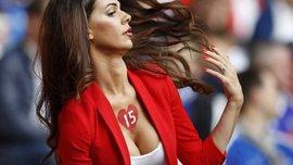 Вболівальниця дня: дружина Джемаїлі підкорила чарами фотографів на Євро-2016