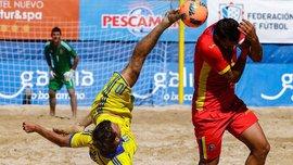 Збірна Україна з пляжного футболу розбомбила Молдову, але слідом за Росією не потрапила на Мундіаль