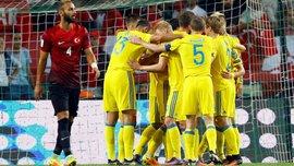 Украина забила Турции 2 мяча ровно за 180 секунд, форварды Турции полностью перекрыты
