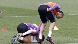 Роналду на мгновение потерял разум и едва не травмировал своего партнера грубым ударом