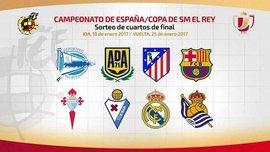 Кубок Іспанії, 1/4 фіналу: результати жеребкування