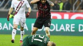 """Форвард """"Милана"""" Лападула жутко пробежался по голове Харта шипами бутс – пришлось латать"""