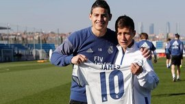 """Мальчик, сыгравший ключевую роль в спасении игроков """"Шапекоэнсе"""", посетил клубную базу """"Реала"""""""