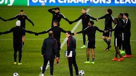 """Игроки ПСЖ продемонстрировали необычную игру в квадрат перед матчем с """"Барселоной"""""""