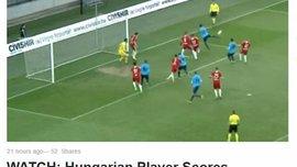 Магічний гол п'ятою з льоту забили в чемпіонаті Угорщини – вразить навіть Ібрагімовіча