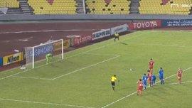 Нападающий сборной Сирии Храбин забил победный пенальти в стиле Паненки в компенсированное время