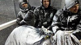 Матч чемпионата Исландии был прерван снежной бурей