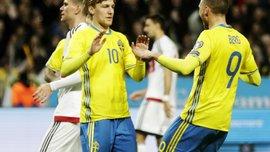 Відбір до ЧС-2018: Швеція розбила Білорусь, Швейцарія обіграла Латвію