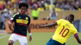 Колумбийцы устроили в раздевалке дикие танцы после победы над Эквадором