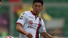 """Форвард """"Кальярі"""" Хан Кван Сон став першим гравцем з КНДР, який забив гол у Серії А"""
