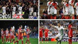 УЕФА назвал 4-х претендентов на звание лучшего игрока недели в 1/4 Лиги чемпионов