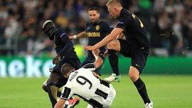 Глик едва не травмировал Игуаина в матче Ювентус – Монако, за что даже не получил желтую карточку