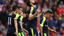 Арсенал розгромив Сток Сіті та покращив свої шанси на потрапляння в Лігу чемпіонів