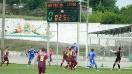 В матчі Першої ліги Інгулець – Суми було забито блискучий гол ударом через себе