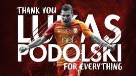 Подольски провел последний матч за Галатасарай и попрощался с клубом