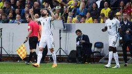 Жиру забил невероятный гол Швеции, разрушив все законы физики