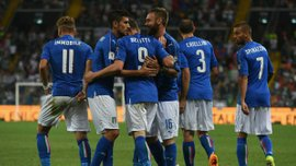 Сборная Италии забила 5 голов в отборочном матче к Чемпионату мира впервые с 1993 года
