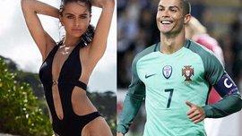 Роналду запросив на матч Латвія – Португалія сексапільну модель, яка з радістю прийшла подивитись на Кріштіану