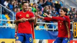 Сауль забил великолепный гол ударом через себя за сборную Испании U-21
