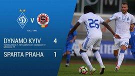 Динамо – Спарта – 4:1 – Відео голів та огляд матчу