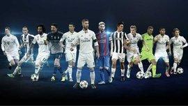 УЕФА огласил претендентов на звание лучших игроков в своих амплуа в Лиге чемпионов 2016/17