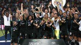 Реал вийшов на третє місце за кількістю перемог у Суперкубку УЄФА