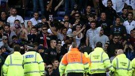 Эвертон – Хайдук: во время матча произошла массовая драка фанатов на трибунах