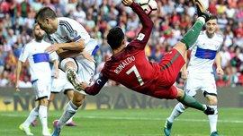 Португалія – Фарери: гол Кріштіану Роналду