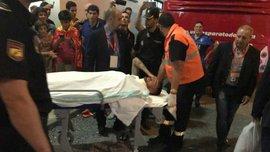 Себальйос был госпитализирован после матча за сборную Испании U-21, но избежал серьезной травмы