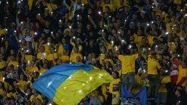 Фанаты сборной Украины провели марш в Рейкьявике перед матчем против Исландии