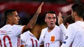 Испания впервые забила 16 мячей одному сопернику в одном отборочном цикле