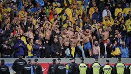 Исландия – Украина: перед матчем у украинских фанов изъяли камни и нож