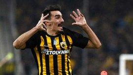 Гравець АЕКа Хрістодулопулос забив феноменальний гол зі штрафного у ворота Олімпіакоса