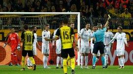 Модрич получил желтую карточку в матче против Боруссии Д, потому что отсчитывал расстояние от мяча к стенке