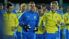 Сборная Украины провела первую тренировку в рамках подготовки к матчам против Косово и Хорватии