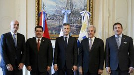 Аргентина, Уругвай и Парагвай подали совместную заявку на проведение чемпионата мира-2030