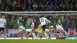 Руди забил фантастический гол мощным ударом в матче Северная Ирландия – Германия