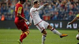 Черногория – Дания – 0:1 – Видео гола и обзор матча