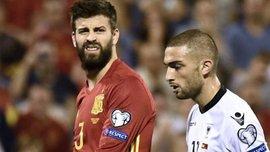 Пике был освистан фанатами во время матча Испания – Албания
