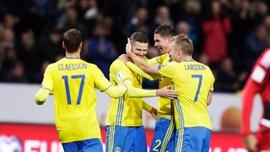 Отбор к ЧМ-2018: Швеция забила 8 голов Люксембургу и обошла Францию, Эстония уничтожила Гибралтар