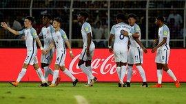 Новичок Боруссии Д Санчо забил 2 гола и сделал ассист в матче ЧМ-2017 U-17 Чили – Англия
