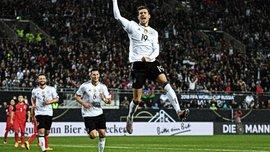 Горецка скопировал гол Ярмоленко пяткой в матче Германия – Азербайджан