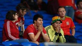 Фанати та гравці збірної Уельсу акапельно виконали гімн своєї країни перед матчем з Ірландією