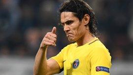 Кавани – 3-й футболист в истории, забивший в 7 матчах Лиги чемпионов подряд
