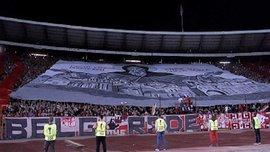 Игроки Арсенала прошли через жуткий туннель перед матчем против Црвены Звезды