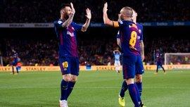 Барселона – Малага: Иньеста забил в чемпионате Испании впервые за 2 года