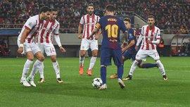 Барселона впервые за 5 лет не забила в матче группового этапа Лиги чемпионов